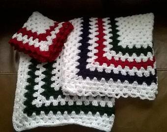 Hand crochet new baby set 3 piece