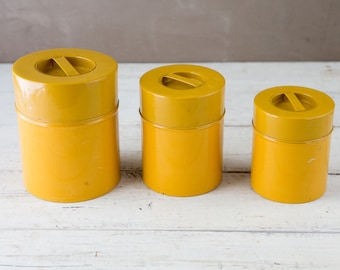 Vintage Tin Canister Set-Food Photography Props