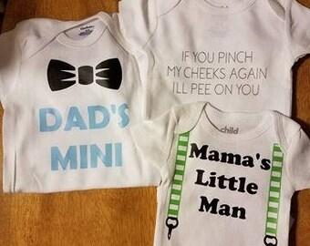Set of Three Baby Boy Onesie Gift