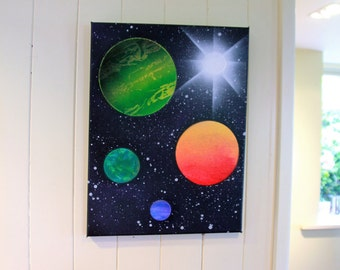Planetary Wall Art 12x12 in