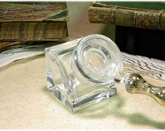 Vintage glass Inkwell.