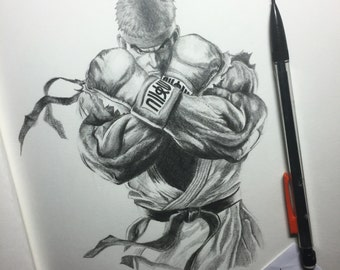 Ryu , ORIGINAL illustration, A4