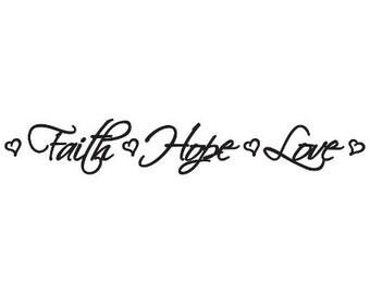 Faith Hope Love      Wall Decal Car Truck Laptop Sticker