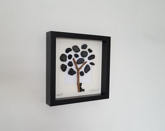 Pebble Art, Tree, 'Life', Rustic, Beach, Pebbles, Driftwood