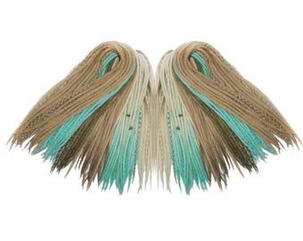 DE merino wool dreads dreadlocks [All Shades of Freedom] witch,forest,mint,tribal,antique,boho,ombre,bohemian,full head