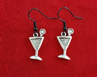 Martini or Cocktail Drink Earrings