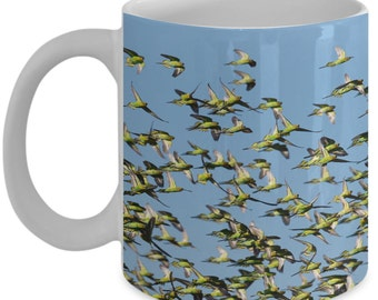 Parakeet Lover Mug - Bird Lover Mug - Gifts For Bird Lover - Pet Lover Coffee Mug - Gifts For Him - Parakeet - Budgie - Bird Gifts - Parrot