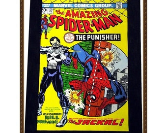 AMAZING SPIDER MAN #129 - February - 1974, The Punisher, Comics Art Paintings, Oil On Canvas, 20 x 30 in