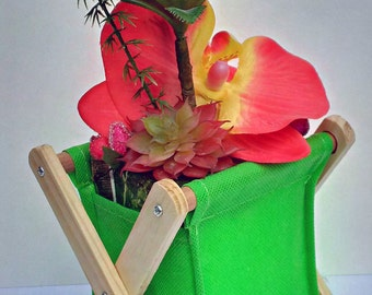 Pencil POT flowered HAND MADE / artificial flowers / gift / unique / decoration / cute / plants