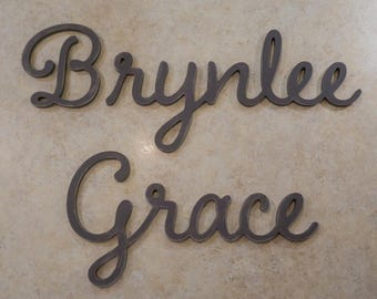 Wood Name Cutout, Wooden Name Sign, Nursery Wall Art, Baby Name