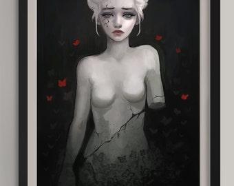 """Corrosive Queen - Original Art Print (A3/11.7""""x16.5"""")"""