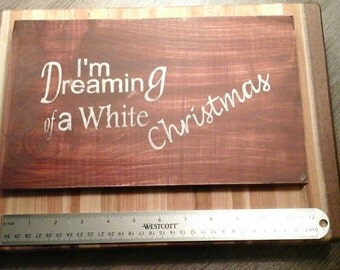 Sign Wooden stained christmas sign