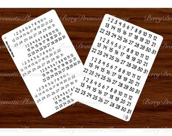 Date stickers   Etsy