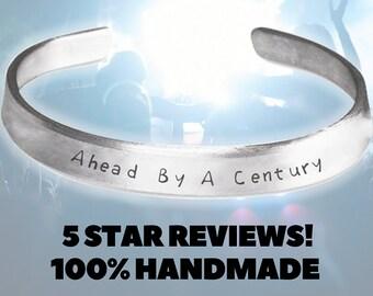 Ahead By A Century The Tragically Hip Gord Downie Jewelry Handmade Aluminum Bracelet