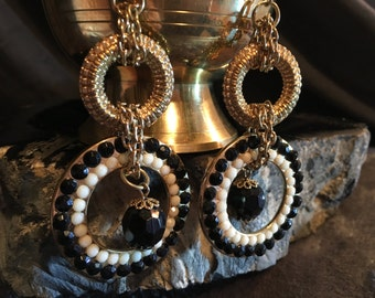 Gorgeous Vintage Rhinestone Chandelier Earrings