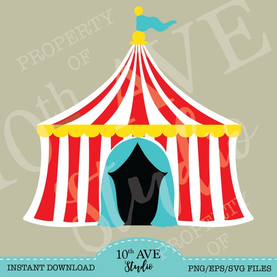 Carnival~Circus~Big Top Tent SVG/PNG/EPS/dxf Clipart and cut files from 10thAveStudio on Etsy Studio & Carnival~Circus~Big Top Tent SVG/PNG/EPS/dxf Clipart and cut files ...