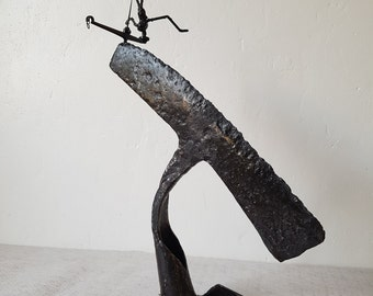 SHARP Scrap Metal Art Sculpture by the Atilleul