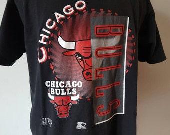 Vintage Starter Chicago Bulls Shirt Size L Jordan Chicago Bulls tee