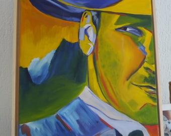 Indiana Jones, oil paintings in baklijst by Toverwoudcreatief