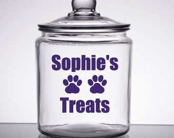 Dog Treats Decal - Personalized Pet Treat Decal - Dog Food Decal - Dog Treat Sticker - Pet Food Decal - Animal Lover Decal - Dog Decal - Pet