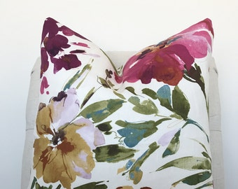 Orchid Floral Pillow Cover