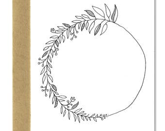 Minimal Wreath - A1 Card (Single or Set of 5)