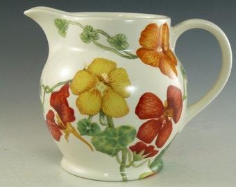 """POOLE Pottery - NASTURTIUM - Jug / Jugs - 4 3/4"""""""