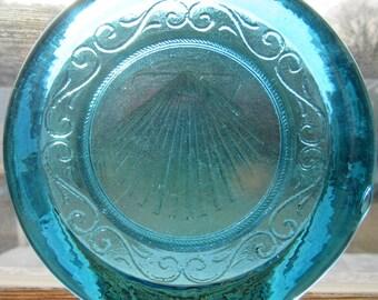 Cape Cod  Scallop Shell Pressed Glass Suncatcher Ornament