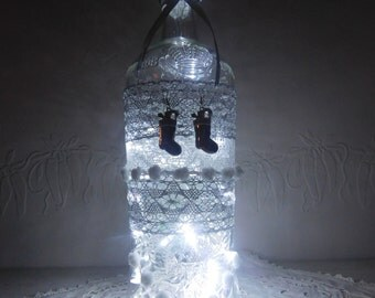 Frosted bottle lamp