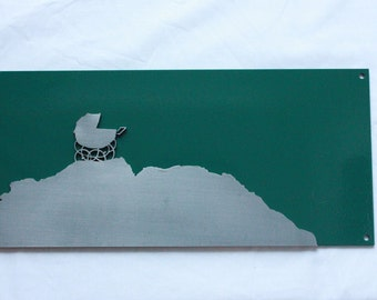 Laser cut steel horror movie poster Rosemary's Baby