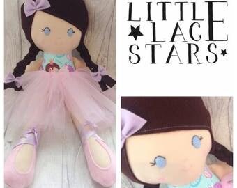 Handmade ballerina, ballerina soft doll, plush ballerina, soft body doll, rag doll