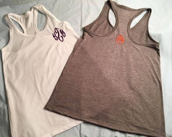 Monogrammed Athletic Works Women's Core Active Racerback Tank