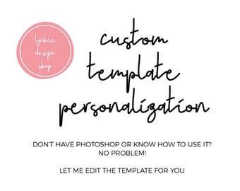 Personalize my Template | Add on Listing Customization