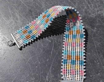 Miyuki beads woven Cuff Bracelet.