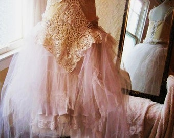 Statement Wedding Dress, Bridal Gown, Bohemian Wedding Dress, Lace Wedding Dress, Alternative Wedding Dress, Steampunk Inspired Wedding