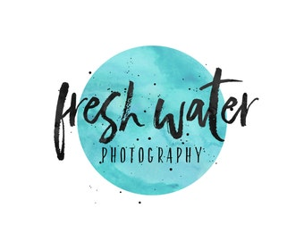 Watercolor Logo Design / Photographer Logo / Modern Logo / Premade Logo Boutique / Cursive Logo / Small Business Logo / Event Planner Logo