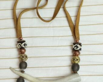 Large Antler tip necklace
