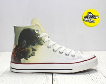 Dean and Sam Winchester Supernatural inspired custom converse shoes