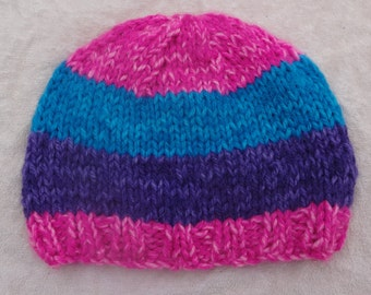 Child's Striped Hat