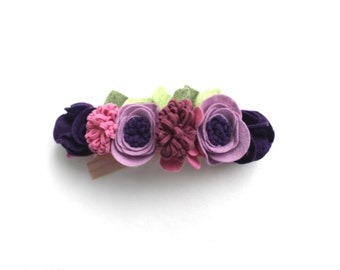 LAVENDER MAUVE CROWN// felt flower headband// felt flowers