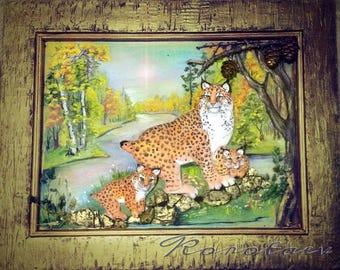 "Original artwork ""Lynx with the lynx 3D"""