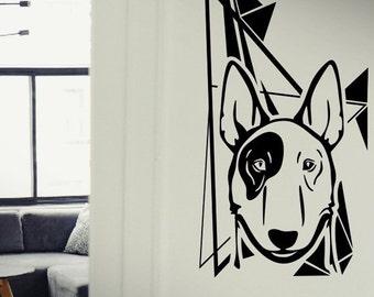 American Pitbull Terrier - Dog Puppy wall vinyl decals stickers DIY Art Decor Bedroom