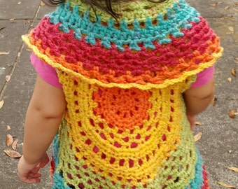 Crochet Toddler Circle Vest