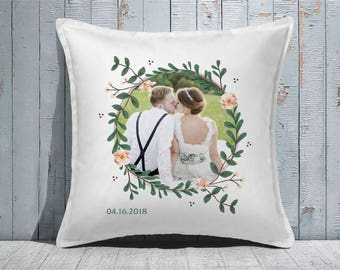 Custom Decorative Pillow | Throw Pillow | Custom Pillow | 20 x 20 Pillow Cover | Custom Pillow Cover | Personalized Pillow | Floral photo