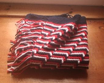 Apache Tears Crochet Lapghan Blanket with Fringe