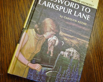 Nancy Drew 10, Password to Larkspur Lane, Volume 10, Carolyn Keene, Vintage Nancy Drew Mystery Stories, 1966