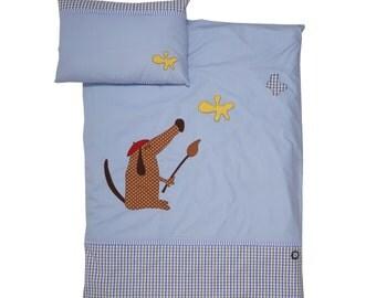 """DogsLoveCats bedding set """"Hundy"""" for children"""
