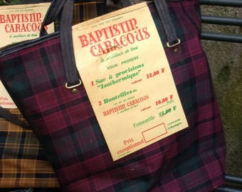 insulated vintage advertising wines BAJAJ CARACOUX bag