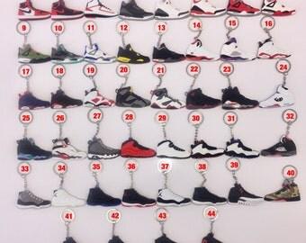 Air Jordan Sneaker Keychains - Lot of 3, 5,10, 15 or 20