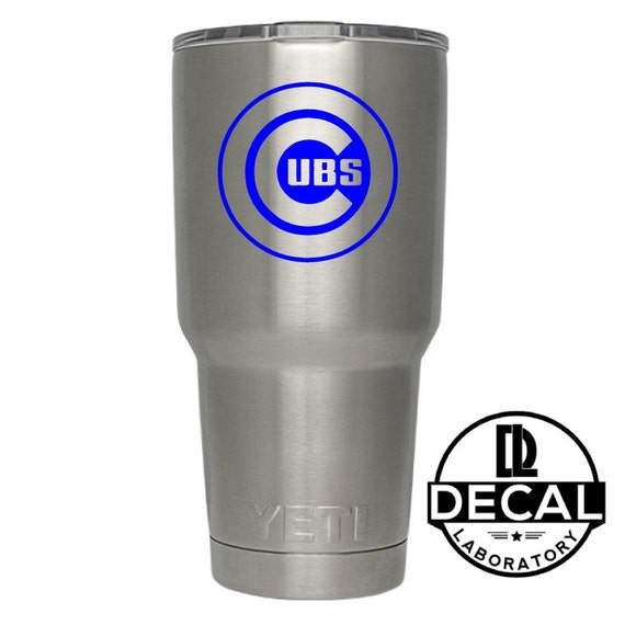 Yeti Decal Sticker - Chicago Cubs Decal Sticker For Yeti RTIC Rambler Tumbler Coldster Beer Mug